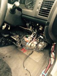 Dash apart guage install