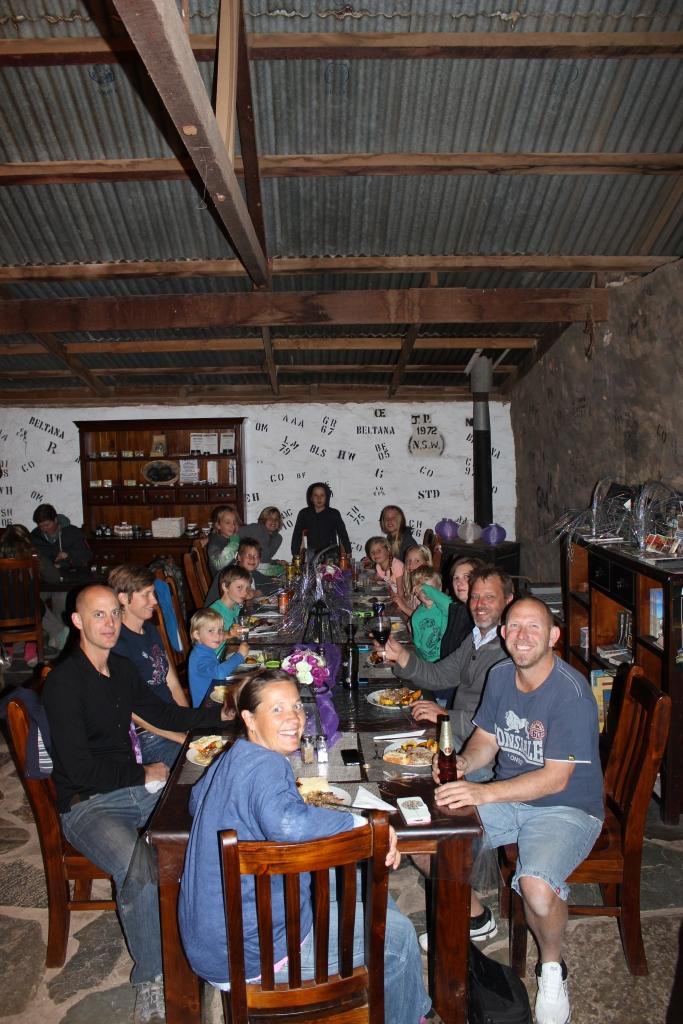 dinner at beltana