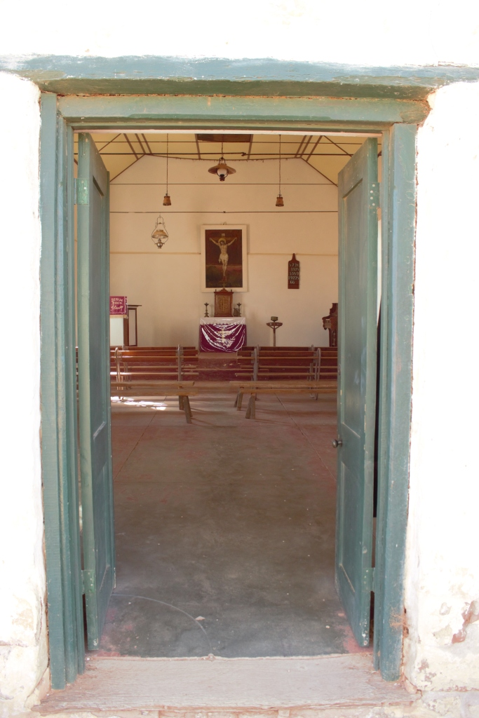 Hermannsburg & Palm Valley church door