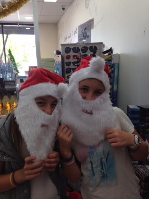 Bec and Zoe santas