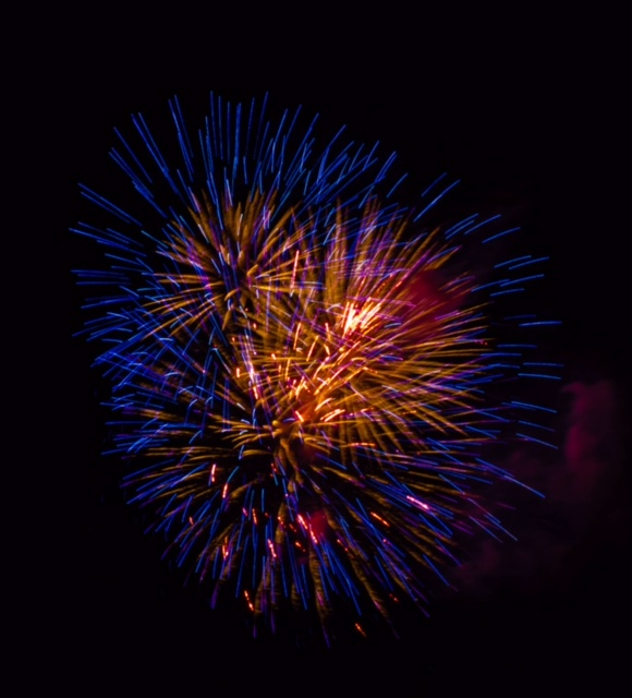 fireworks at xmas parade